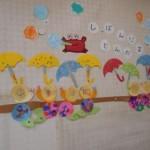 2歳児クラスの壁画が飾ってあります