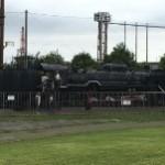 男の子に大人気!SL機関車の中に入れますよ~!