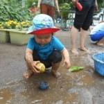 泥が跳ねても気にしないよ!